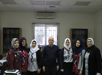 Five girls from Al Macharia Scout visit Dar Al-Ajaza Al-Islamia for the birth of the Prophet on December 16, 2015